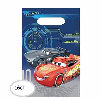Disney Cars 3 Loot Treat Gift Bags Birthday Party Favor Supplies ~ 16ct Latest
