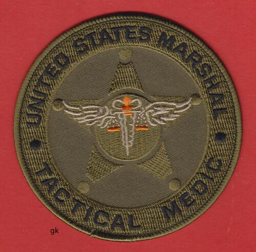 US MARSHAL  TACTICAL MEDIC SHOULDER PATCH POLICE  (Subdued)