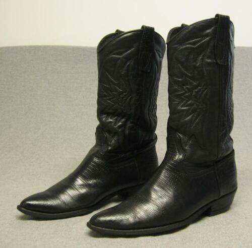 Vintage, Bort, Carleton, (Rare), Western, Cowboy, Exotic, Lizard, Skin, boots, mens, 7.5D,