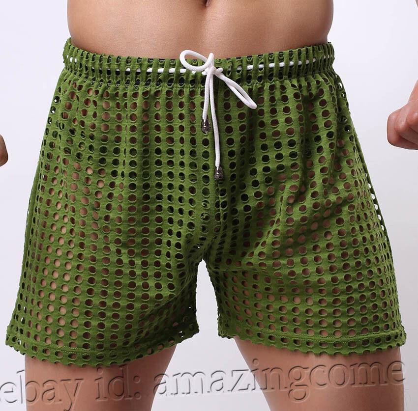 new men 39 s hollow underwear gym workout sports lounge wear jogging shorts pants ebay. Black Bedroom Furniture Sets. Home Design Ideas
