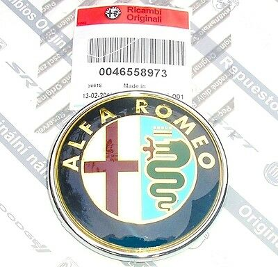 100% GENUINE NEW ALFA  ROMEO 147 to 05 & MITO   Front Grille Bonnet Badge Emblem