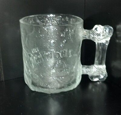 McDonalds Flintstones Collectable Glass Pre-Dawn Mug Rare Vintage Retro