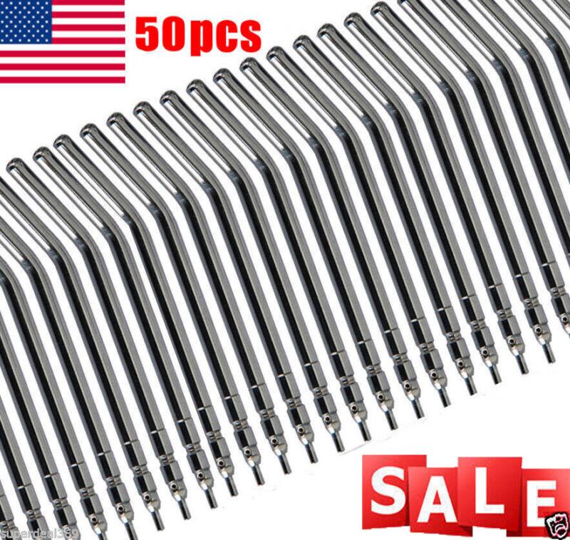 50Pcs Dental Air Water Spray Triple Syringe Metal Autoclavable Nozzles/Tips/Tube