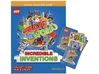 Lego Create The World Incredible Inventions Album and Full Set of 140 Cards