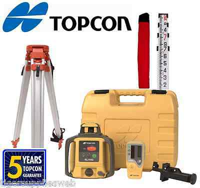 Topcon Rl-h4c Self-leveling Rotary Grade Laser Level W Tripod And 14 Rod Inches