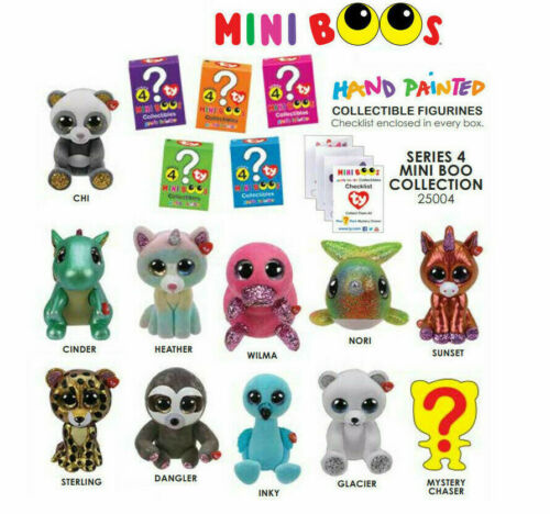 2019 TY Mini Boo SERIES 4 Collectible Hand Painted Vinyl Figure 2 INCH BLIND BOX