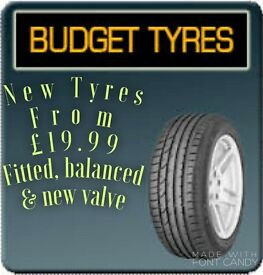 New Tyres From £19.99