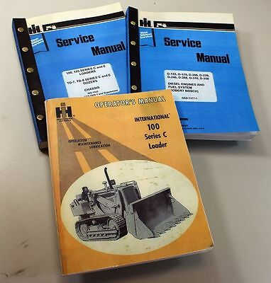 Set International 100 Series C 100c Crawler Loader Operators Service Manual