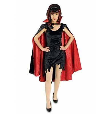 Teufel Vampir Umhang Band Kragen schwarz rot Damen 110  Halloween - Vampir Kostüm Rot Cape