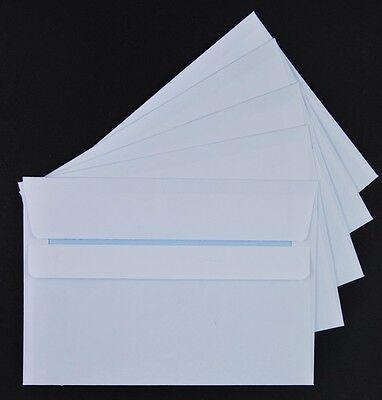 1000 Stück Briefumschläge C6 weiß 114x162 mm ohne Fenster Selbstklebung
