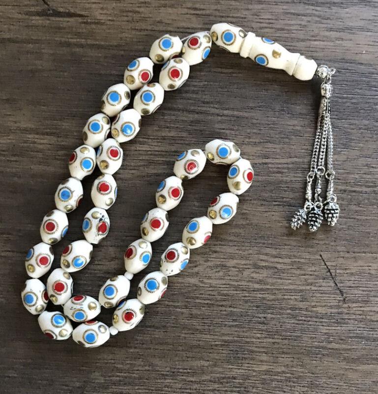Camel Bone Misbaha Tesbih Rosary Prayer Worry  33 Beads سبحه عضم جمل مسباح