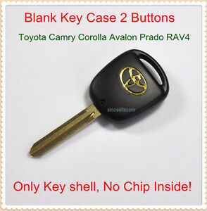 replacement blank remote key case for toyota camry prado rav4 fob shell 2 but. Black Bedroom Furniture Sets. Home Design Ideas