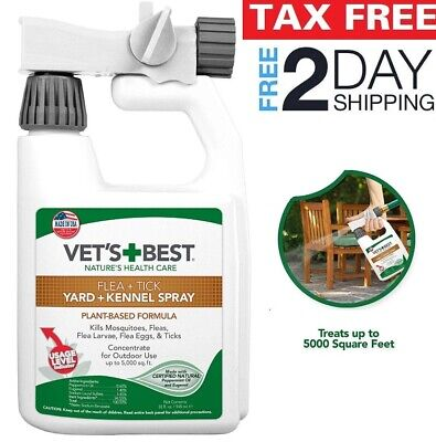 FLEA, TICK MOSQUITO Yard and Kennel Spray for Outdoor Dog Vet's Best