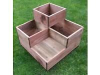 Rustic Planter, Brand New.Three Tiers, Treated Timber. Quality Construction.