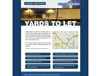 Yards to Rent/Let -- from 250m² to 5 acres