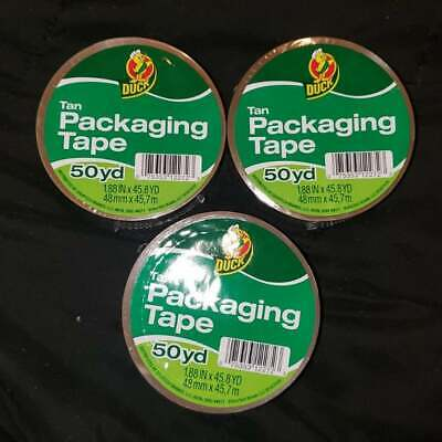 1.88 X 50 Yd Duck Tan Packing Tape - 3 Ct