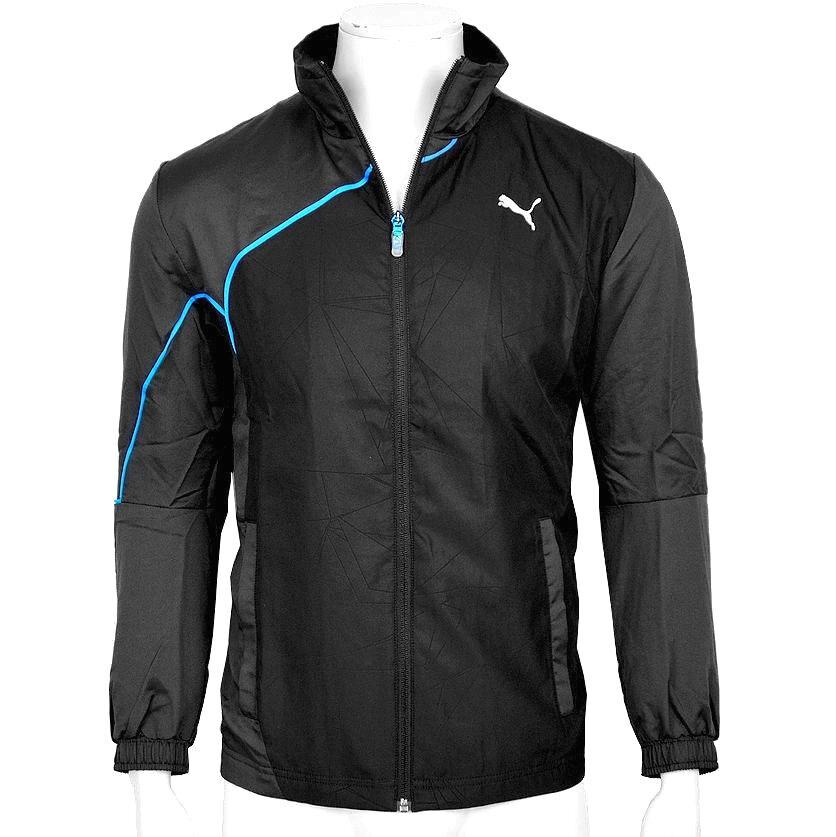 Puma Herren Laufjacke Windjacke Trainingsjacke Sport Jacke Windbreaker schwarz