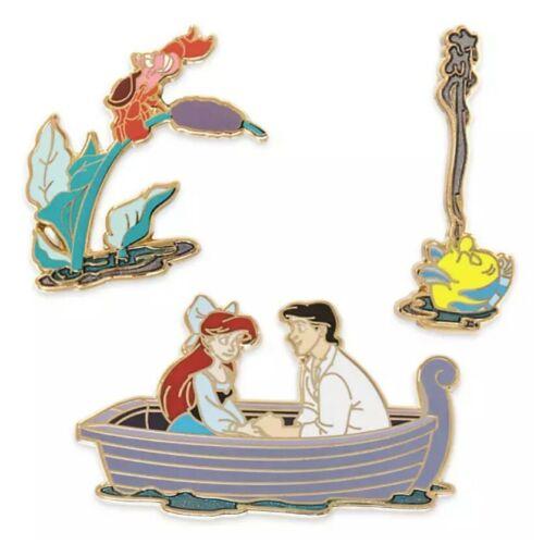 Disney The Little Mermaid 3 Pin Set Kiss the Girl - Ariel - 30th Anniversary NEW