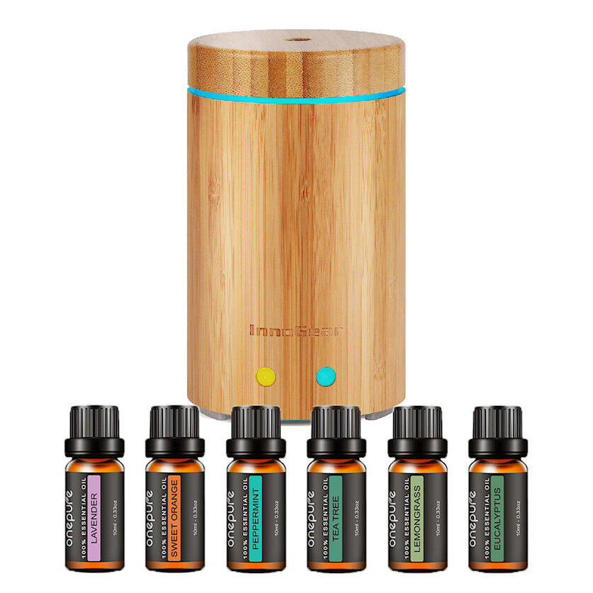 InnoGear Latest Real Bamboo Aromatherapy Essential Oil Diff