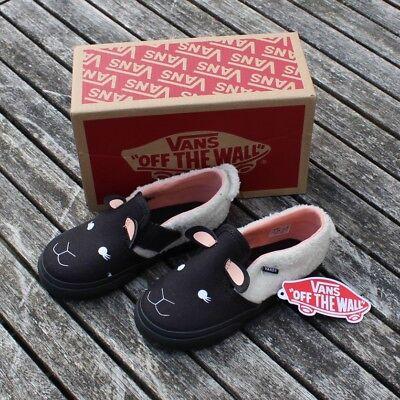 New Kids VANS ASHER V Pink Sheep Slip On Canvas Shoe Toddler Infant UK 8 & 8.5