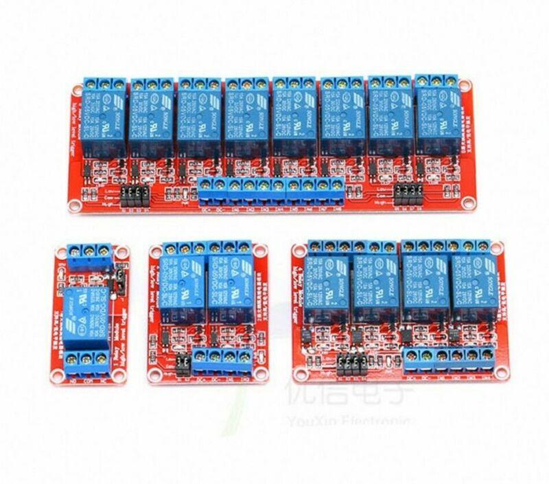 1/2/4/8 Channel 5V 12V 24V Relay Module Optocoupler Isolation H/L Level Trigger