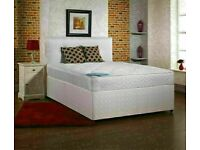 🔵💖🔴STYLISH & COMFORTABLE🔵💖🔴Double or King Size Divan bed Base + Orthopedic Mattress/drawers