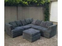 AFFORDABLE NEW LIVERPOOL JUMBO CORD CORNER SOFA AVAILABLE IN 3+2 SOFA SET AS WELL👑