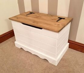 Small Hand Made Scandinavian Pine Ottoman / Blanket Box***£59***FREE DELIVERY