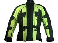 Rk Sports Rossi Black or Black/Fluo Waterproof Textile Motorcycle Jacket