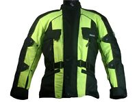 Rk Sports Rossi Black or Black/Fluo Waterproof Textile Motorcycle Jacket