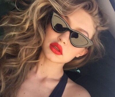 BUY ONE GET ONE FREE Women's Cateye Sunglasses 2018 Thin Cat Eye Frame UV (Sunglasses Buy One Get One Free)