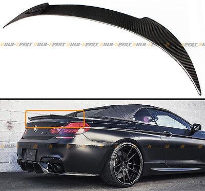 - For 2012-16 BMW F12 640i 650i M6 CONVERTIBLE CARBON FIBER TRUNK SPOILER WING