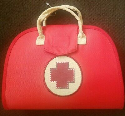 Girls Nurse Costume (Girls Red Nurse & First Aid Bag Dress Up Halloween Costume Play Wonder 7