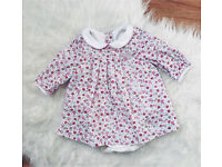 M&S baby girl floral dress outfit