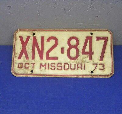 1973 73 MISSOURI MO LICENSE PLATE XN2-847