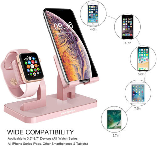 iPhone 11 X 6 7 8 & Plus Apple Watch Charging Dock Stand Sta