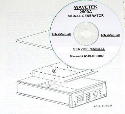 Wavetek 2500a Signal Generator Service Manual