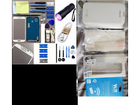 2 Cases for samsung s4, 1 S4 wireless charging receiver, plus more