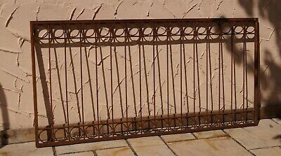 Metal Fence Wrought Iron Fence Antique Anello-Z80/200 Raw Rust