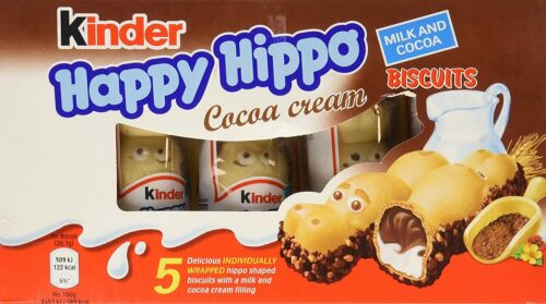 2 X Kinder Ferrero Happy Hippo Cocoa Cream 20 X 5:Total 100 Pcs EXP:05/20