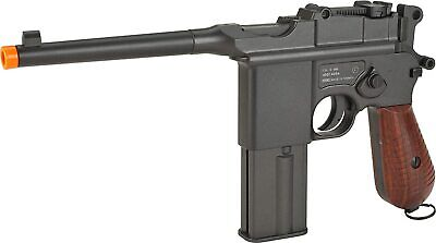 KWC Mauser M 712 Broomhandle CO2 gas blowback semi Full Auto airsoft pistol