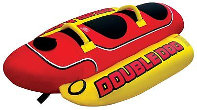 AIRHEAD HD-2 Hot Dog Double Rider Towable Inflatable Boat Lake Tube 1-2 Person ()
