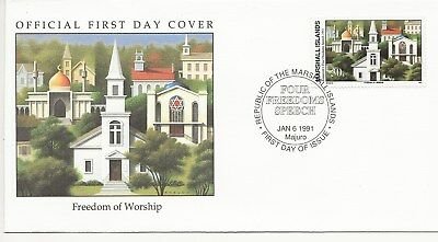 Army FDC's  - Marshall Isles - Freedom of Want - 1991  (3301) (X)