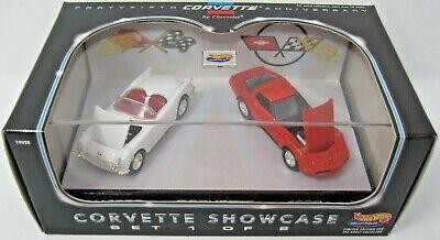 Hot Wheels Ltd Ed 45th Anniversary Corvette Showcase 2 Car Set # 1 New / Sealed