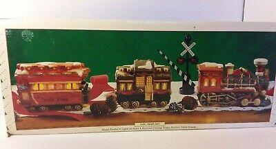 Christmas Train L.R. 1993 set of 3 ceramic Christmas decoration BRAND NEW