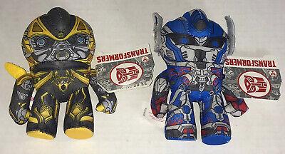 "Transformers Age of Extinction Optimus Prime Bumblebee Lot 5"" Mini Plush Toy NWT"
