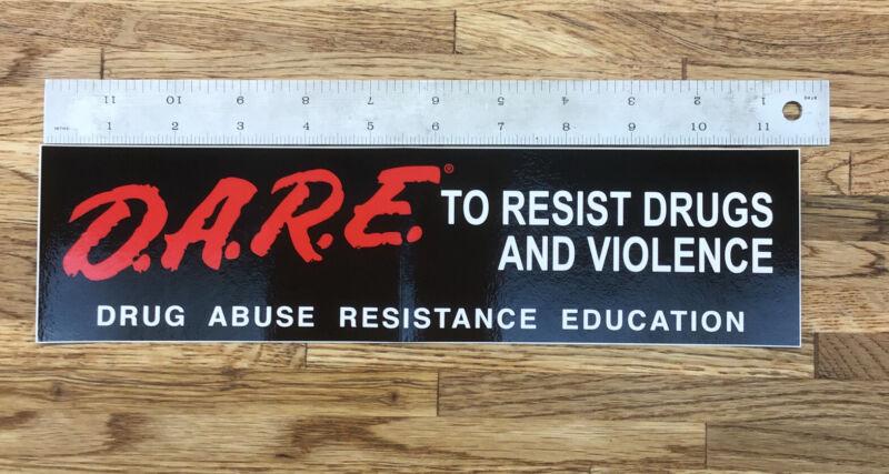 "Vintage DARE Drug Abuse Resistance Bumper Sticker 11.5"" X 3"" NEW OLD STOCK! T-5"
