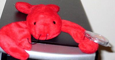 Ty Beanie Baby ~ PINCHERS the Lobster ~ MINT with MINT TAGS ~ RETIRED