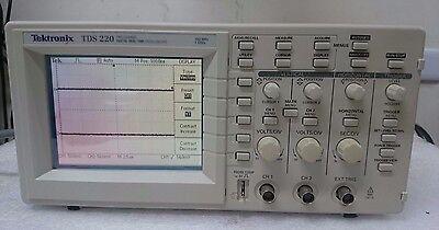 Tektronix Tds220 100 Mhz Digital Oscilloscope 2 Channel 1 Gss
