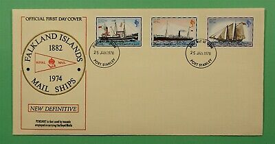 DR WHO 1978 FALKLAND ISLANDS FDC MAIL SHIPS  C241985